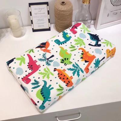 宝宝纯棉针织乳胶枕(正方形) 恐龙世界