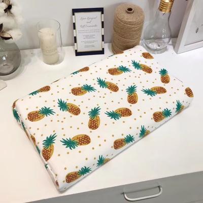 宝宝纯棉针织乳胶枕(正方形) 菠萝
