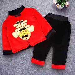 新款冬装红色刺绣加厚保暖拜年服 S-90码 春