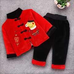 新款冬装红色刺绣加厚保暖拜年服 XL-120码 佩奇猪