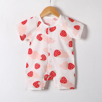 2019新款短袖闭裆哈衣 66# 草莓