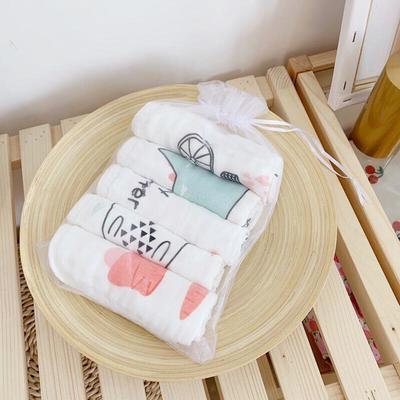 2019新款北欧抽象五条装小方巾30*30cm 北欧抽象五条装小方巾