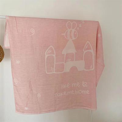 2019新款城堡盖毯 110*110cm 城堡粉色