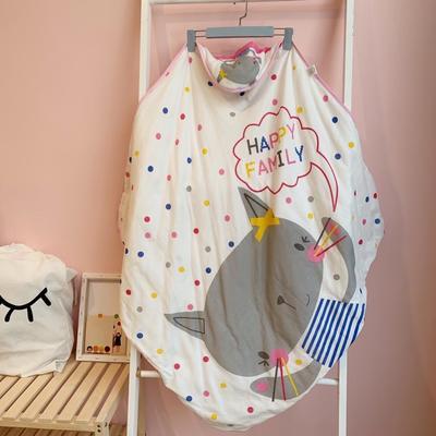 2019新款纱布抱被 1.0m(3.3英尺)床 快乐猫-红色