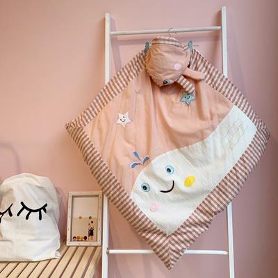 2019新款水洗棉绣花抱被 1.0m(3.3英尺)床 粉色鲸鱼