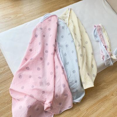 2019新款圆点双层纱布抱被 90*90cm 圆点粉