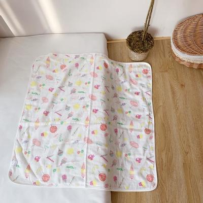 2019新款纱布4层抱被75*75 1.0m(3.3英尺)床 棒棒糖