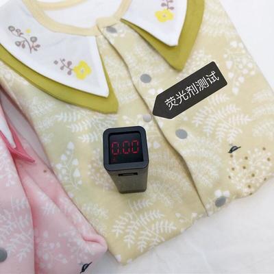 2019新款-满花小鸟对襟连体衣 80 黄色