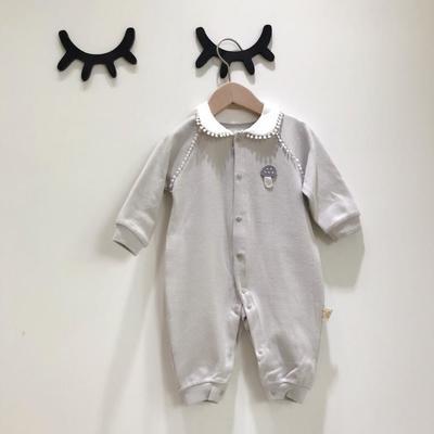 2019新款-羊绒棉连体衣哈衣蘑菇 80 灰色