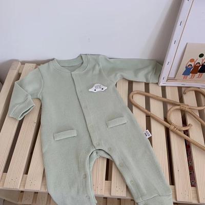 2019新款-敲可爱的针织连体哈衣 80码 绿色