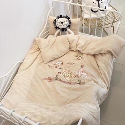2019新款-天然彩棉幼儿园套件系列-单被套120x150cm 海底世界(单被套120x150cm)