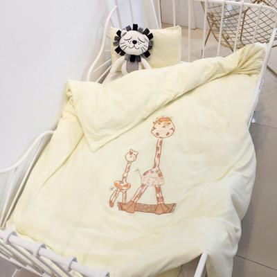 2019新款-针织幼儿园套件系列-love home鹿-单被套120*150cm love home鹿黄(单被套)