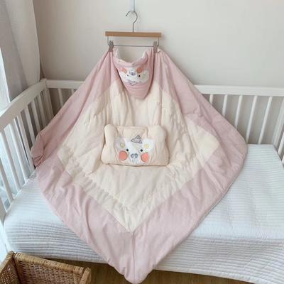 2019新款-竹浆纤维抱被+枕头 100*100cm 粉色