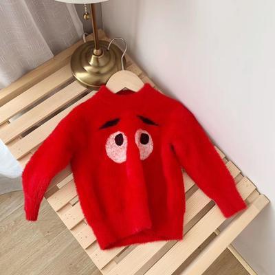 2019新款婴幼儿毛衣系列 80码 大眼睛红1