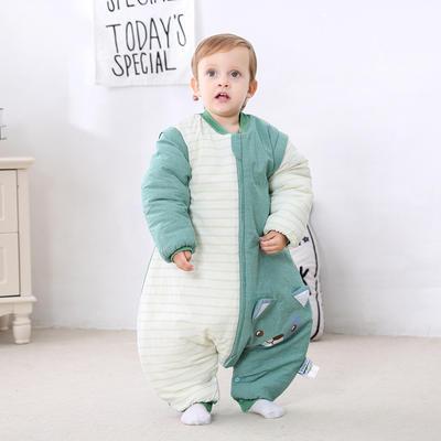 德国恒温婴儿分腿睡袋 秋冬季儿童防踢被新生儿宝宝睡袋 恒温系列代理费 绿色小猫