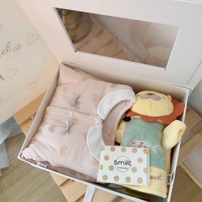 2019新款粉色爱心系列新生儿12件套 均码 0-3个月