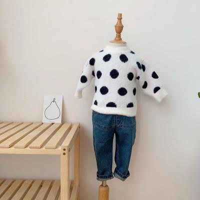 2019新款貂绒毛衣 80码衣长:33cm 白色