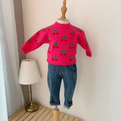 2019新款卡通毛衣 80码衣长:33cm 红色樱桃