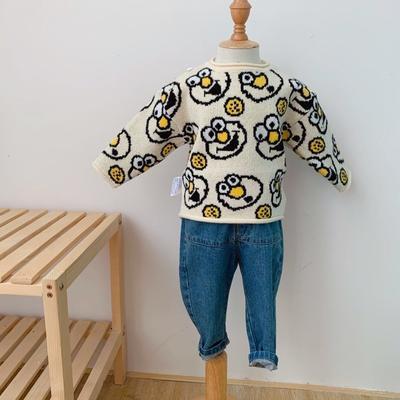 2019新款芝麻街毛衣 80码衣长:38cm 米色