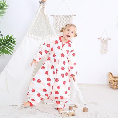 2020新款杜邦SORONA玉米棉分腿睡袋 小草莓  M 70cm中厚
