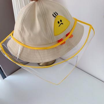 2020新款儿童疫情防飞沫渔夫帽(含面罩)