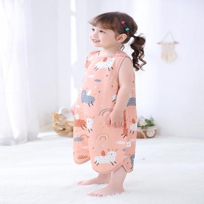 2020新款纱布背心式睡袋 彩虹羊S 60cm