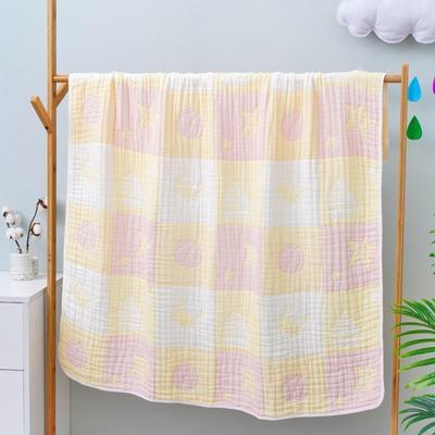 2020新款八层全棉纱布浴巾盖毯 115*115cm 粉色