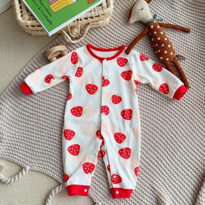 2020新款针织纯棉连体衣 66码 衣长57cm 草莓
