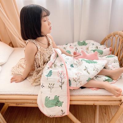 2021新款艾草纱布杜邦玉米棉夏被 150x200cm 粉色
