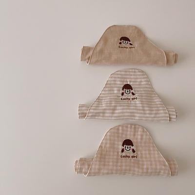 2021新款韩国ins宝宝有机彩棉吸汗巾20*42cm 男孩图案三条