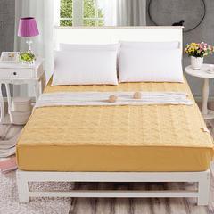 金贝壳绗绣加厚夹棉床笠单件 1.5纯棉防滑席梦思床垫保护套床罩 1.0mx1.95m床 01