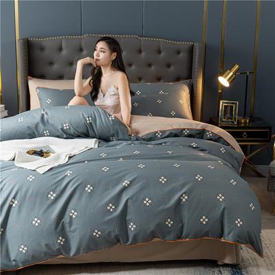 2020新款40S贡缎轻奢圆网印花四件套 1.8m床单款四件套 安琪儿