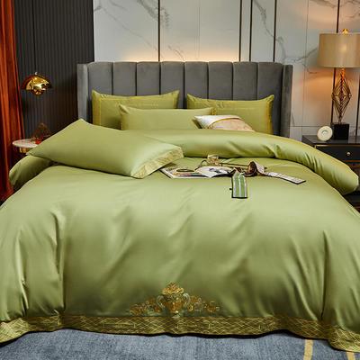 2021新款60S长绒棉四件套维雅娜 1.8m床单款四件套 维雅娜(清新绿)
