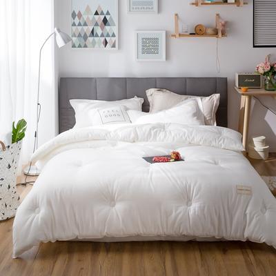 2018新款全棉小提花--棉主义冬被 200*230 7斤 漂白