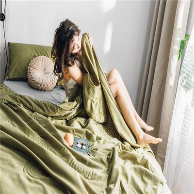 2019新款60S贡缎长绒棉夏被 200X230cm 古典绿