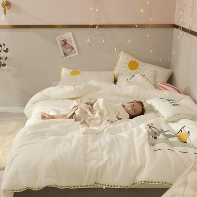 2019新款兒童刺繡系列A類抗菌被哈多巴士拍攝風格2 150x200cm冬被4.5斤 哈多巴士