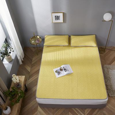 2020新款纯沁乳胶凉席三件套(凉席+1对枕套)-风格一 1.5*2.0 玉米黄