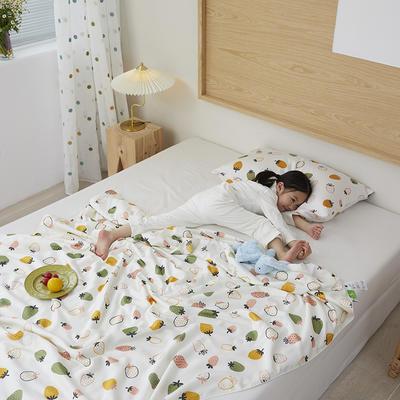 2021新款-60S兰精天丝儿童印花大豆夏被 150x200cm 芭比草莓