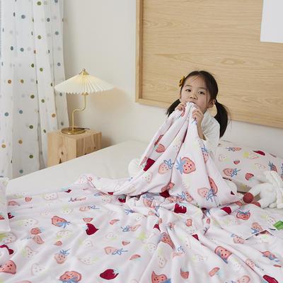 2021新款-60S兰精天丝儿童印花大豆夏被 150x200cm 草莓物语