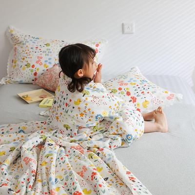 2021新款-A类26度全棉双层纱布印花夏被 200X230cm 黄鸭生活