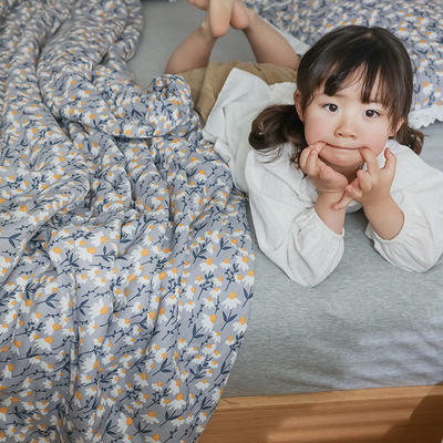 2021新款-A类26度全棉双层纱布印花夏被 200X230cm 南薇