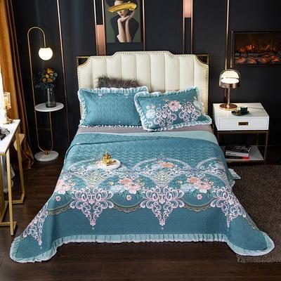 2020新款13372绗缝印花床盖三件套 150cmx230cm床盖三件套 盛世美颜-蓝