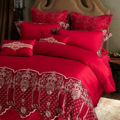 60支贡缎长绒棉秋冬款式多件套-波尔多 标准1.5m-1.8m床 Bordeaux波尔多