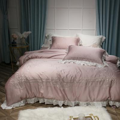 60兰精天丝系列四件套-黛西-裸粉 标准1.5m-1.8m床 黛西-裸粉