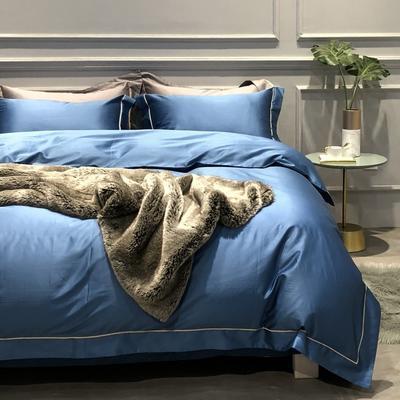 2018新款100支纯系列四件套 枕套/对 迈阿密蓝