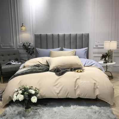 2018新款梦Draem(60S磨毛)双股长绒棉四件套 枕套/对 香槟米