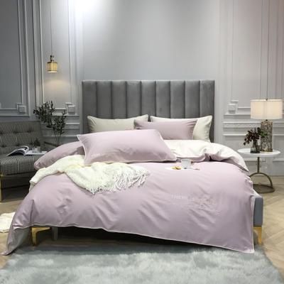 2018新款梦Draem(60S磨毛)双股长绒棉四件套 枕套/对 幸运粉