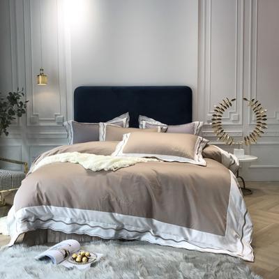 2018新款雅Grace(60S长绒棉)双股贡缎四件套 枕套/对 香槟金