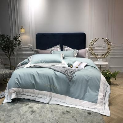 2018新款雅Grace(60S长绒棉)双股贡缎四件套 枕套/对 迷雾绿