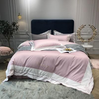2018新款雅Grace(60S长绒棉)双股贡缎四件套 枕套/对 公主粉